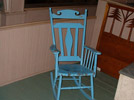 Rocking Chair: Pine, blue paint. Photo: DP