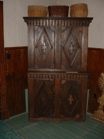 ... Armoire: Pine Wood, Black Paint, 1890s, 78 Inches High, Deschaine  Family ...